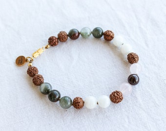 MOON CYCLE Hand-Knotted Mala Bead Bracelet. 10% Donation to end period inequality with every purchase.
