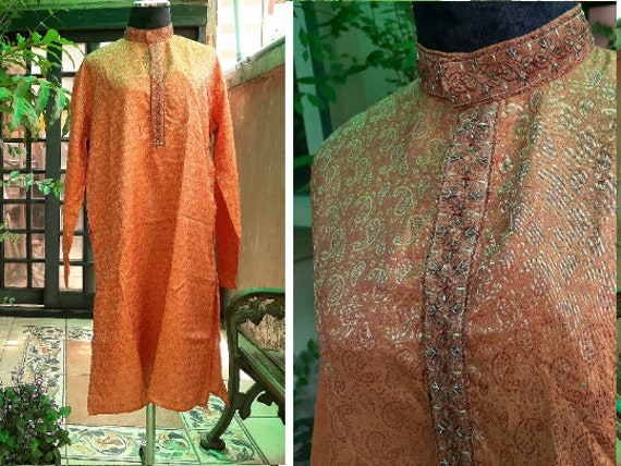 Medium - Men Kurta - Boho Indian Kurta - Vintage T