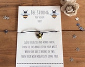 Be Strong Wish Bracelet You 39 ve Got This Wish Bracelet Inspirational Gift Bracelet Encouragement Wish Bracelet Stocking Filler Small Gift