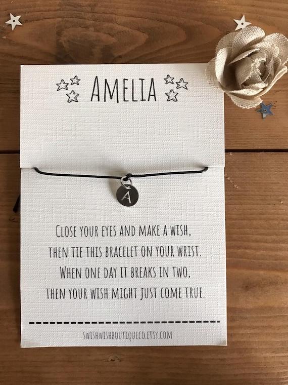 Personalised Wish Bracelet Personalized Gift Initial Wish Bracelet Name Gift Name Wish Bracelet Gift Bracelet Thank You Wish Bracelet