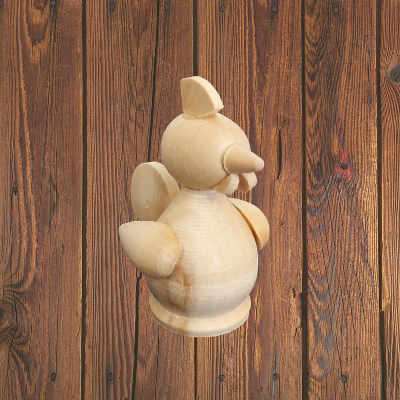 Decorating and Decoupage Natural Unpainted Eco Friendly Wooden Blanks Unfinished Wooden Toy Animal Figurine Cockerel DIY Painting