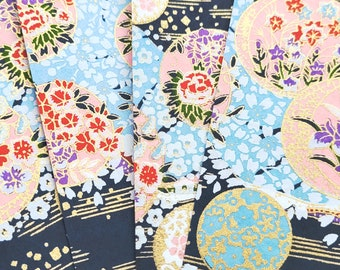 Multicolour Floral Origami Paper, Washi  Chiyogami or Yuzen sheet 15cm sheet/ 6 inch - MUL039