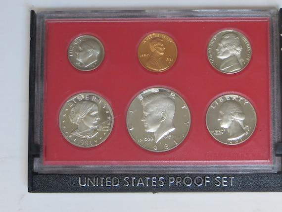 1981 S Proof Set Original Box 6 Coins Type 1