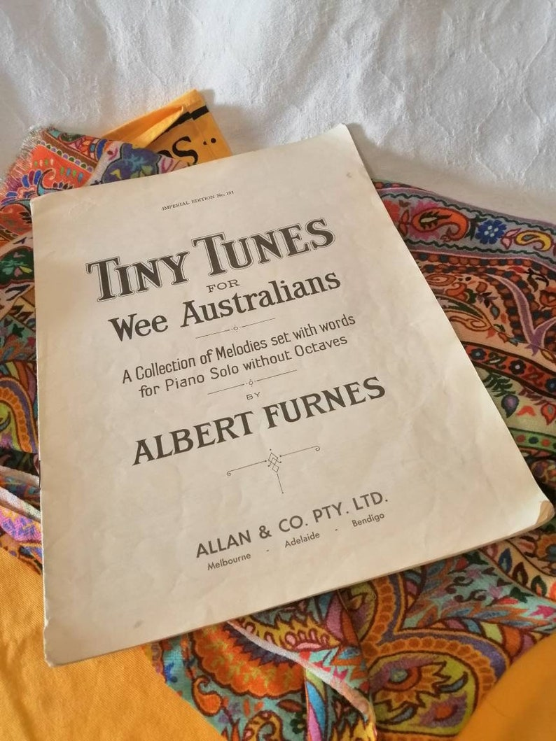 Vintage sheet music Tiny Tunes for Wee image 0