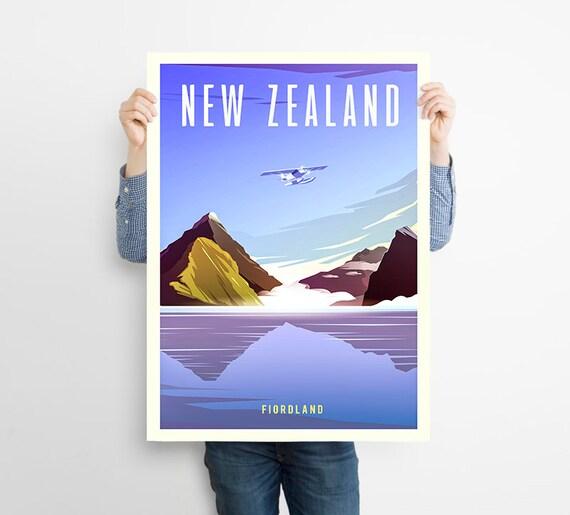 NEWZEALAND NATIONAL PARK POSTER  #3 A3//A4 size