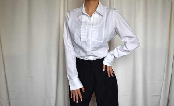 Vintage white formal cotton shirt