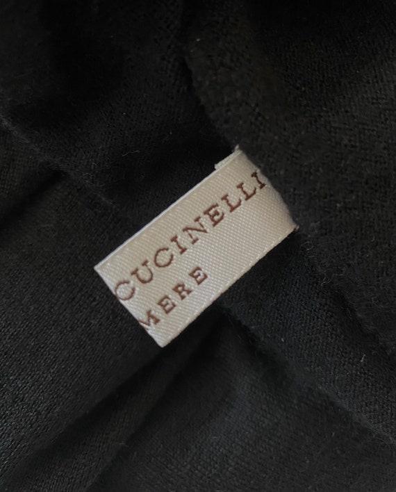 Vintage Brunello Cucinelli cashmere leather  blac… - image 7