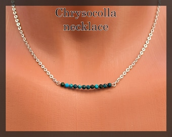 free shipping Blue goldstone bar necklace women/'s short silver bar necklace gift for her blue and silver bar necklace