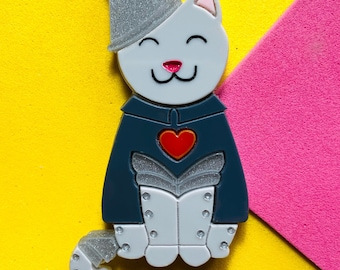 MEOWTIFUL COLLECTION Meow Vader Acrylic Brooch