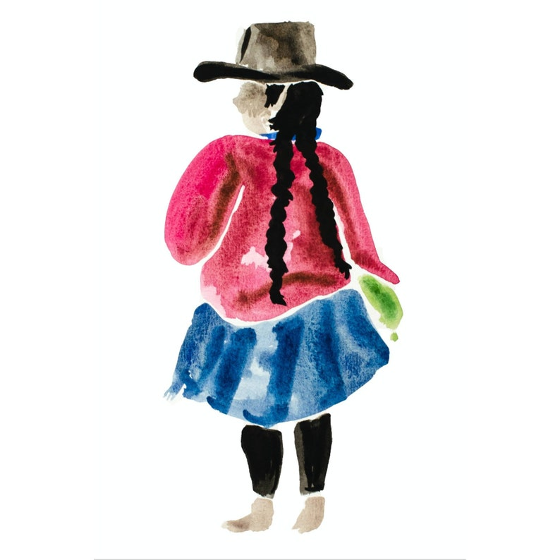 South American Woman Limited Edition Print Unframed image 0