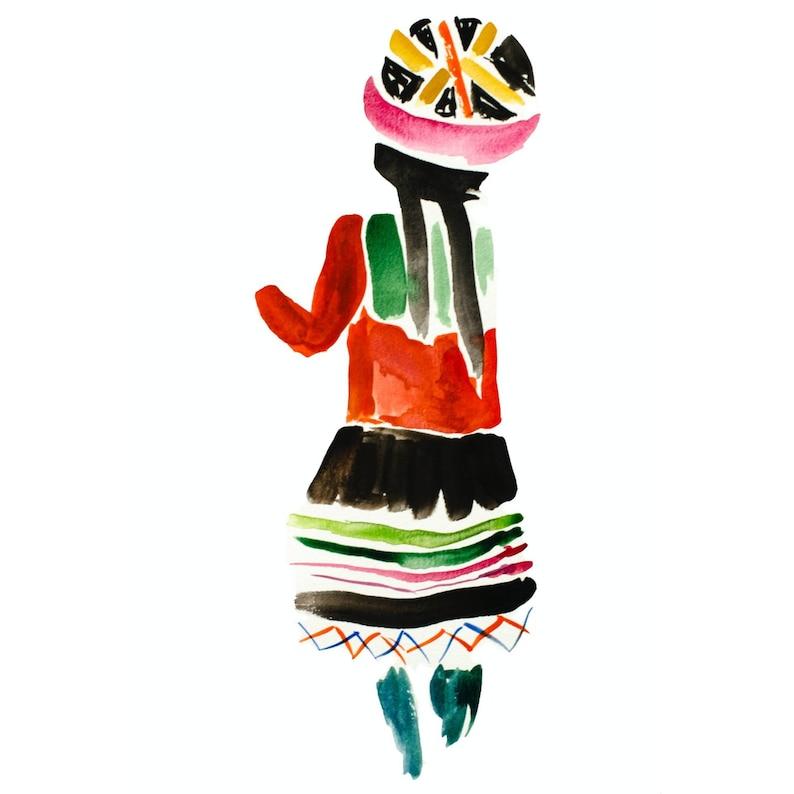 Peruvian Woman Limited Edition Print Unframed image 0