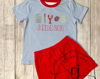 Red Lobster Baby T-Shirt Kids Cotton T Shirts Fashion Tops for 6M-2T Baby