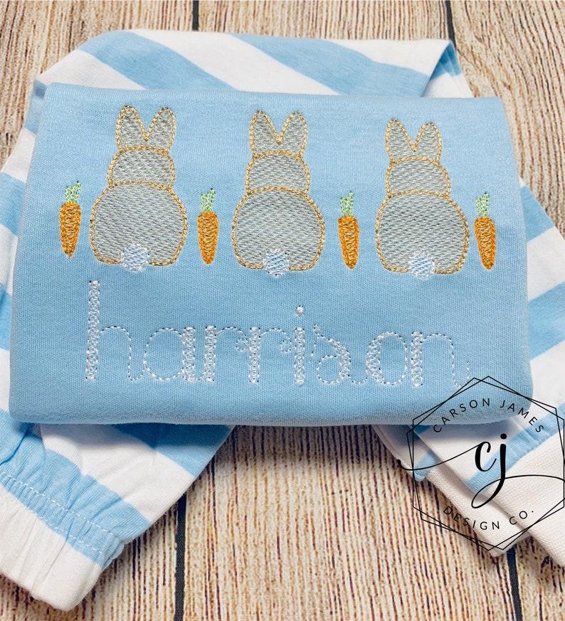 Monogram Easter Pajamas for Baby Toddler Girls Boys Sibling Matching Brother Sister Easter Bunny Easter basket Easter gift