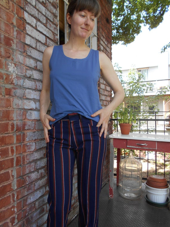 Deadstock Wool Striped Pants Mod 60s