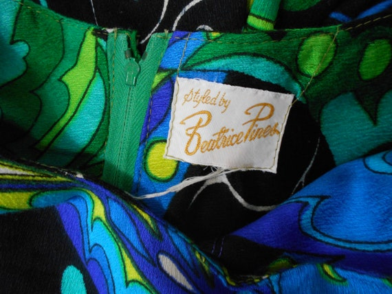 Psychedelic Butterfly Print Maxi Dress with Ruffl… - image 10