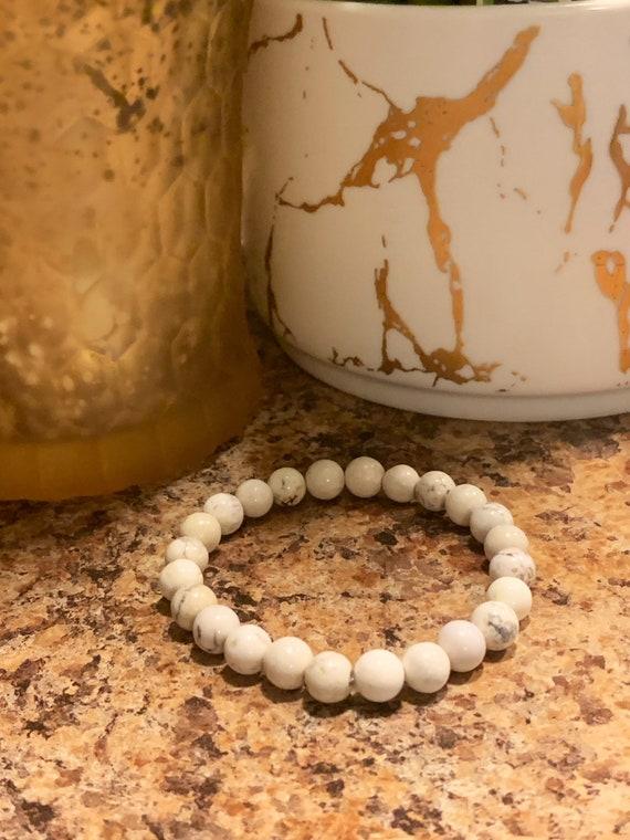 Howlite Stone Beaded Bracelet