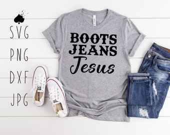 Sublimation Design  Ready To Press  Boots Jeans And Jesus