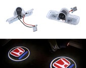 2Pcs HONDA LED Laser Door logo Ghost Shadow Projector Lights For Honda Crosstour Accord
