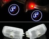 2Pcs-4Pcs INFINITI LED Car Door Light Logo Projector Ghost Shadow For Infiniti FX35/FX37 Q50 G35