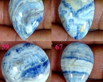 A-1827 Natural Scheelite Loose Stone Gorgeous! Blue Scheelite Gemstone Scheelite For Jewelry Making  18 Cts Handmade Scheelite Cabochon