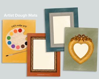 Picture Frames Playdough Mat Printable   Art Dough Activity   Homeschool Printables Activities Dough Mats   Creative Toddler Kids