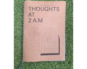 thoughts at 2:oo am ~ zine