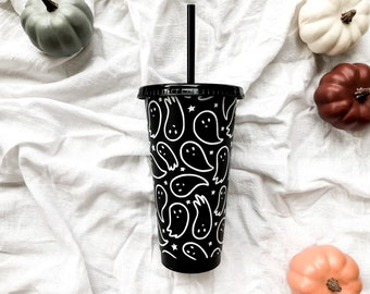 Halloween Cold Cup • Spooky Cup • Ghost Cup • Halloween Reusable Cup • Halloween Lover • Gifts for her • Friendly Ghost Cup
