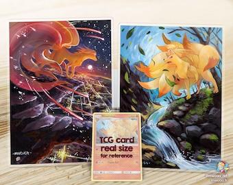 Postcard Print Ninetales Inspired