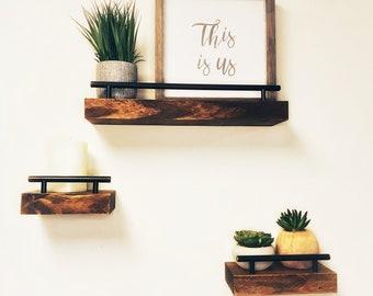 Modern Wall Shelf Etsy