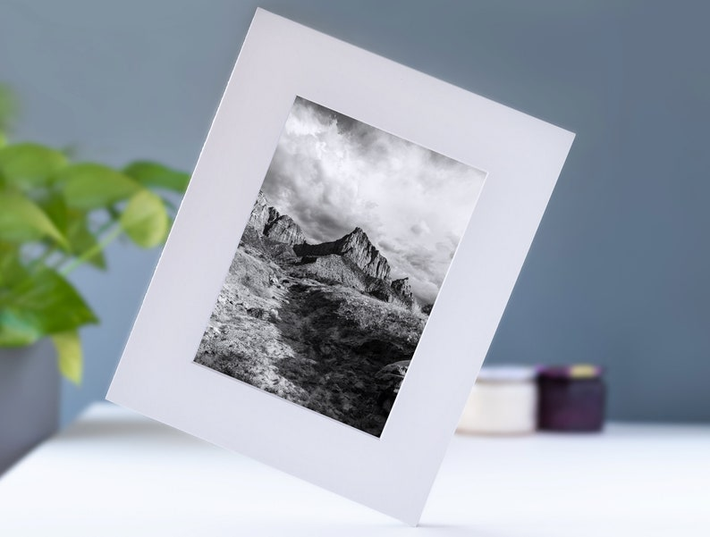 National park landscape wall art for art lovers Fine art landscape photography print mounted on a framing mat Zion