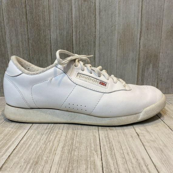 Reebok Classic White Tennis Shoes, 9