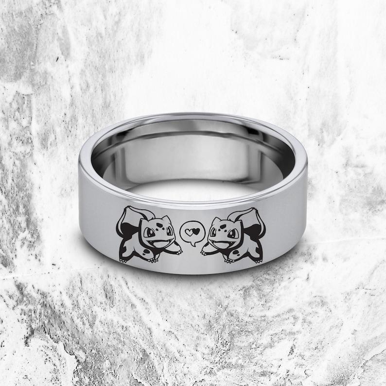 I Choose You Ring Bulbasaur Jewelry Pokemon Wedding Band Pokemon Gift Pokemon Pikachu Engraved Ring Pokemon Bulbsaur Ring