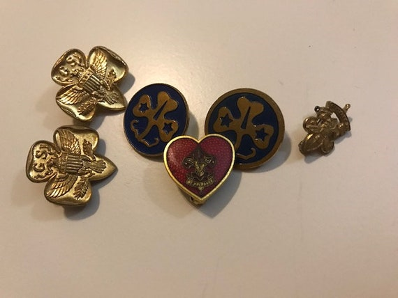 Girl scout pins.