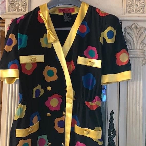 Vintage Escada Margaretha Ley Silk Dress