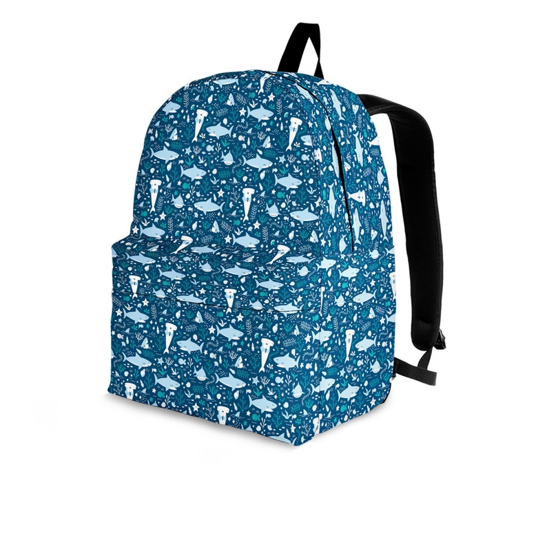 Shark Backpack For Kids and Adults Shark Printed Backpack Shark Pattern Bag Perfect Gift For Shark Lovers