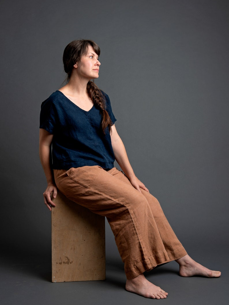 The Wide Leg Pant in Linen