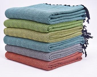 Wedding Gift Towel Turkish Bath Towel Wholesale Towels Bath Towel Sarong Tablecloths Peshtemal Chevron Pareo Orange Towel 70x40