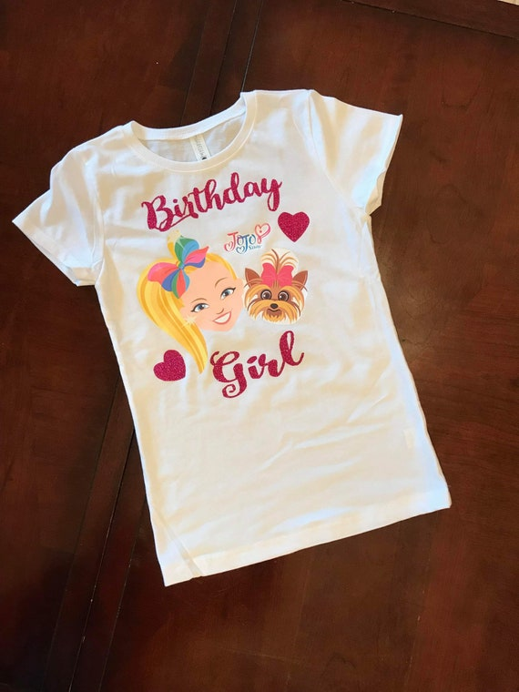 Personalized Jojo Siwa Birthday Shirt Jojo siwa Pink Star Birthday Shirt Girls Jojo Siwa Birthday Shirt