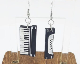 Accordion Tie Rack Miniblings Pin Harmonica Ship Instrument Music Musician