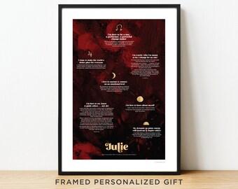 "Personalised Inspirational Art Print. 12x18"" FRAMED PRINT"