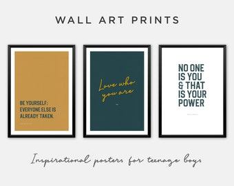 Inspirational Wall Art Prints for Boys Room