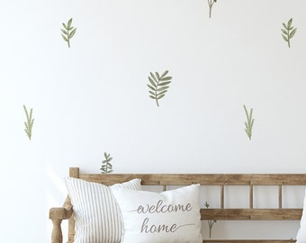 Neutral and Muted Leaves Removable Wall Decals  / Branch Decals / Leaves Decals / Greenery Wall Decals / Scandinavian / Plant Theme