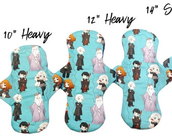 Hedwig 13 Heavy Harry and Pets Cloth Sanitary Pads Reusable Cloth Pads Hogwarts Harry Potter Cloth Menstrual Pads Dumbledore