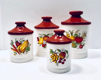 Ceramic Kitchen Canisters Etsy