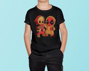 Deadpool Eyes Unisex Kids T-Shirt Childrens Comic Superhero Gift Tee