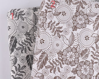 Vintage Bright Orange /& Black Paisley Textured Fabric  94x45  Unused  canvas decorator weight cotton