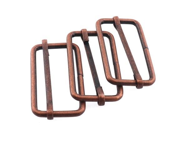 Gunmetal Movable Center Bar Buckle 1/'/' Slider Buckle Belt Buckle Adjustable Slide Buckle Webbing Buckle Bag Buckle Purse Hardware