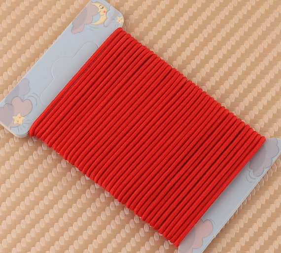 1 5 Mm Red Color Round Elastic Rubber Bandelastic Cord For Etsy