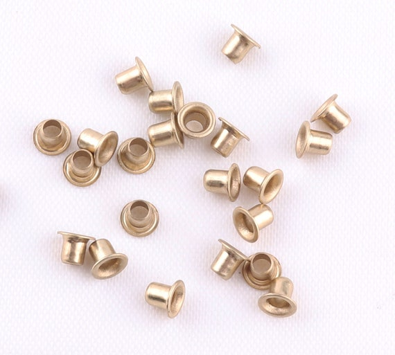 100pcs 4mm Eyelets Grommet Washer Multi Color Brass Rust Proof Craft Leather Bag