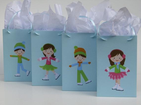 Ice skate mini bookmarks skating birthday party bag filler goody girls